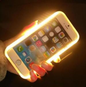 LED Light Up Selfie Phone Case , Illuminated Iphone Case For  IPhone 6 / 6 S Plus Manufactures