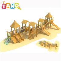 China Children Like Kids Outdoor Play Equipment Wooden Series Slide For 3-12 Years on sale