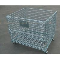 6mm Thickness Industrial Pallet Racks Steel Wire Mesh Containers Stackable Manufactures