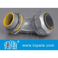 Blue / Yellow Zinc Die Cast Flexible Liquid Tight Conduit Connector Fittings 90 Degree Manufactures