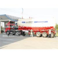 60 Ton 3 Axle 45m3 Bulk Cement Trailer With Air Compressor And Diesel Engine Manufactures