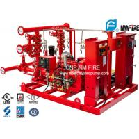 UL / NFPA20 Skid Mounted Fire Pump Package 300GPM Ductile Cast Iron Materials Manufactures