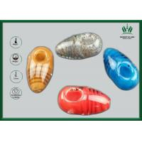 Quality Red Amber Glass Smoking Tubes , Silicone Spoon Tobacco Tube Glass GP-070 for sale