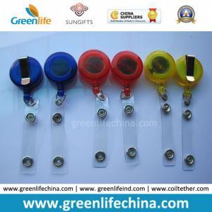 China Hot Sale Cheap Translucent Lanyard Badge Reel W/Plastic Strap on sale