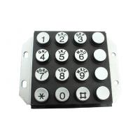 IP65 Vandal Proof Stainless Steel Metal Keypad With Engrave Letter Manufactures