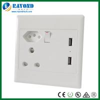 China South African Standard 16A/250V Electrical Switched Power Socket with 5V/2.1A USB Charging Ports on sale