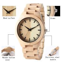 China Dial Japan Movement Wooden Quartz Watch , Original Wood Grain Watches For Gift on sale