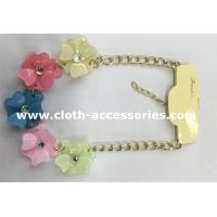 Resin CrystalHandmade Beaded Necklaces 10 Inch With Five Flowers Manufactures