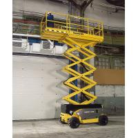 Self - elevating scissor lift platform 6m 300kg Maneuverable with battery powered Manufactures