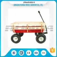 Various Colors Garden Utility Cart Wagon Steel Mesh Bed 150kg  Load Capacity Manufactures