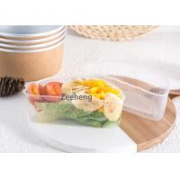 Durable Rigid Disposable Divided Plastic Plates , 2 Parts Recyclable Clear Disposable Plates Manufactures
