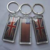 Waterproof LED Solar Keychain Logo can be imprinted Manufactures