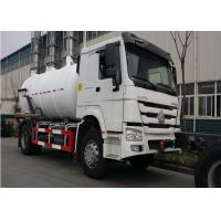 SINOTRUK HOWO Sewage Suction Truck 4x2  Drive Type 6 Wheels HW76 Cabin Manufactures