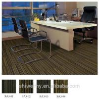 Modern dark colored tufted loop stripe PP carpet tile Manufactures