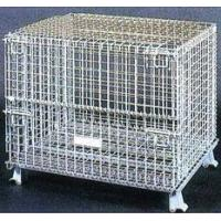 China Foldable Wire Container with Top Mesh on sale