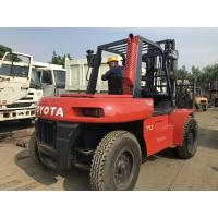 Toyota FD70 Second Hand Diesel Forklifts , 2 Stage Used 5 Ton Forklift Manufactures