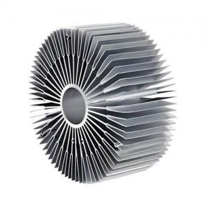 6000 Series Sun Flower Aluminum Radiator Aluminum Extruded Heat Sink Profiles Manufactures