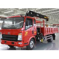 360 All Rotation Truck Mounted Knuckle Boom Cranes 10 Ton SQ10ZK3Q Red Color Manufactures