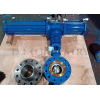 Triple Offset Metal Seated Eccentric Butterfly Valve Pneumatic Operated Manufactures