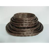 Colorful Oval Hollow PP Rattan Bread Baskets Washable For Bakery And Restaurant Manufactures