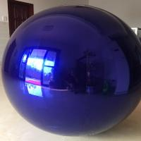 China 1.5m blue Inflatable Mirror Ball/Inflatable Balloon  For Advertising on sale