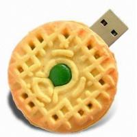 4GB - 16GB customizable usb flash drive pVC biscuit flash memory gifts for kids Manufactures