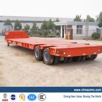 Low Flat Bed Trailer with 4 Axles 120 tons Manufactures