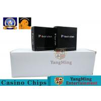 100% PVC Plastic Playing Cards / Casino Gold Plated Card With Two Color Manufactures