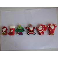 Personalized Christmas Cartoon Character 3D 16 / 32 / 64 GB Silicone USB Flash Drive Manufactures