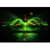 Large Lake Digital Water Curtain / Water Fountain With Big Projection Laser Show Manufactures