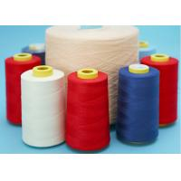 Raw White Spun Polyester Yarn Dyed Bright Polyester Sewing Thread 40s/2 Manufactures