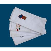 plain white cotton tea towel with embroidery Manufactures