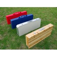 4 Seats Folding Camping Table And Chiars For Garden / Wooden Camping Table Manufactures