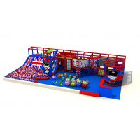 China Britain Style Red Indoor Playground Equipment With Ball Pool KP190606 on sale