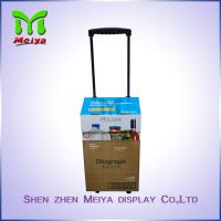 Portable Custom Cartoon Corrugated Paper Case Handle Cardboard Luggage Bag with Wheels Manufactures