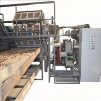 Paper Egg Tray / Fruit Tray Making Machine With Aluminum Molds High Speed Manufactures