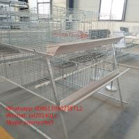 China Hot Dip A Frame Galvanized Wire Mesh Automatic Battery Broiler Cage System Chicken Coops Equipment on sale
