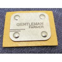 Manufacturer custom metal jeans pu label and printing leather patch label clothing label tag for jeans Manufactures