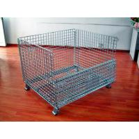 Powder Coated Wire Mesh Pallet Cage For Logistics / Distribution Center Manufactures