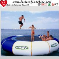 Gaint blue and white PVC tarpaulin Water Buoy Inflatable Mattress to adult Jump on Water Manufactures