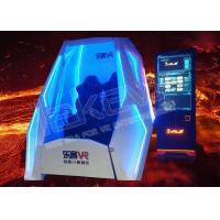 White / Blue 9D VR Cinema VR Pod Double Seats 110v / 220v With Headset Manufactures