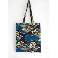Colorful fan print tote bag, national style canvas shoulder bag,lady shopping carrier bag Manufactures