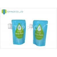 Blue Stand Up Pouch With Spout / Double Zipper liquid pouch packaging in Juice Packing Manufactures