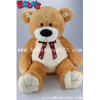 23.5Brown Big Soft Teddy Bear Toys With Printing Ribbon Manufactures