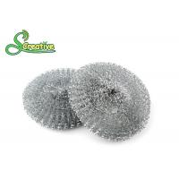 Galvanized Steel Wire Mesh Scouring Pad , Metal Dishwasher Scrubber 12g/ Pcs Manufactures