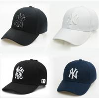 In stock student ny cap embroidery cap male and female caps cheap adult baseball caps black/white Manufactures