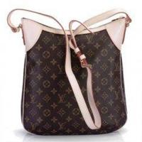Oxidizing Leather Trimming and Shoulder Strap LV Monogram Handbags Golden Brass Odeon MM Manufactures