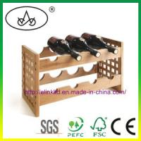 China Natural Wooden Wine Bottle Holder for Champagne with best price Manufactures