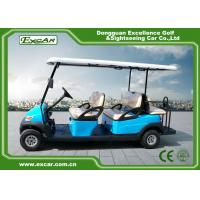 Sky Blue Electric Golf Buggy 6 Person Aluminum 3.7KW ADC Separately Motor Manufactures
