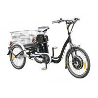 22  Electric Adult Tricycles Black 3 Wheel Electric Trike With Rear Luggage Carrier Manufactures